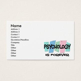 A psicologia é Forever Cartão De Visitas