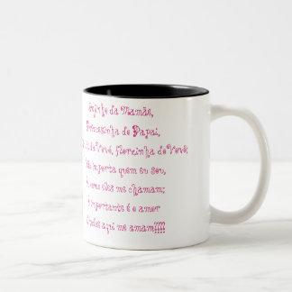 A queridinha da família caneca de café em dois tons