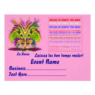 """A rainha do carnaval 8,5"""" x 11"""" vê por favor notas panfleto personalizados"""