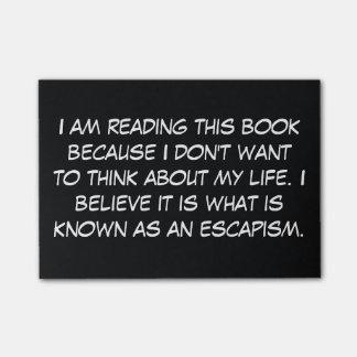 a razão eu estou lendo este livro sticky note