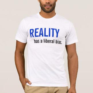 A realidade tem uma polarização liberal camiseta