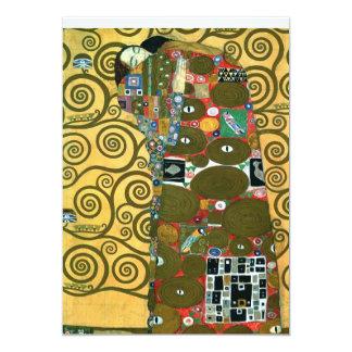 A realização (o abraço), Klimt, salvar a data Convite 12.7 X 17.78cm