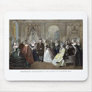 A recepção de Franklin na corte de France Mouse Pad
