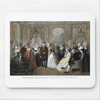 A recepção de Franklin na corte de France Mousepad