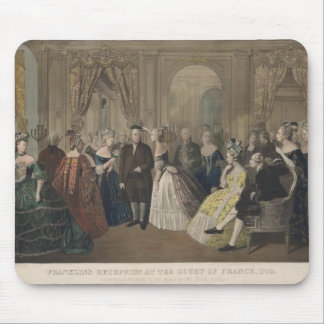 A recepção de Franklin na corte de France Mouse Pads