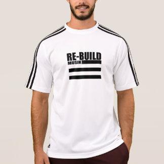 A reconstrução ostenta a camisa atlética do