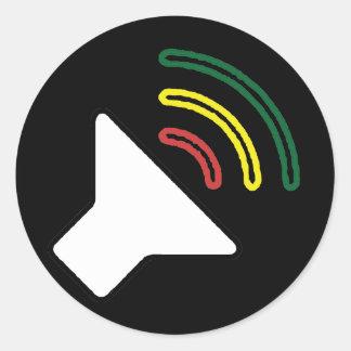 A reggae escuta etiqueta adesivo