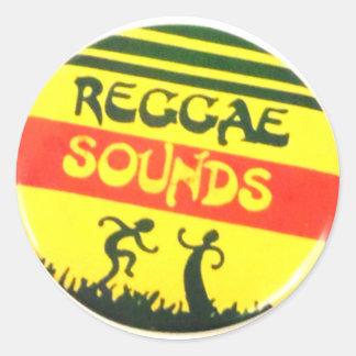 A reggae soa a etiqueta redonda adesivo