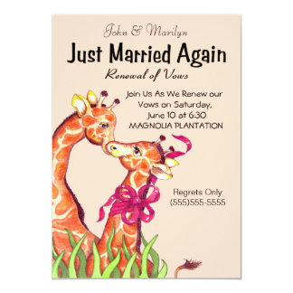 A renovação bonito do casamento jura convites convite 12.7 x 17.78cm