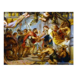 A reunião da arte de Abraham e de Melchizedek Cartão Postal