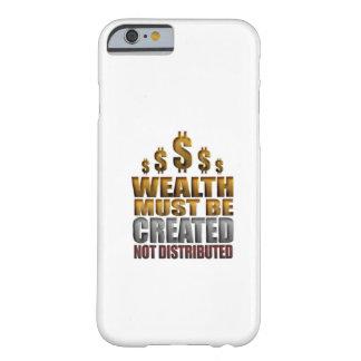 A riqueza deve ser o iPhone não distribuído criado Capa Barely There Para iPhone 6