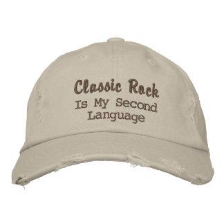 A rocha clássica é minha segunda língua boné bordado
