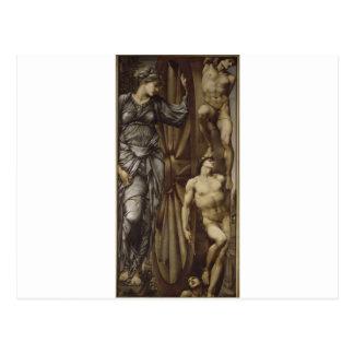 A roda da fortuna por Edward Burne-Jones Cartão Postal