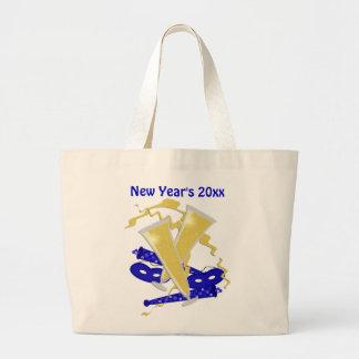 A sacola de ano novo bolsa de lona