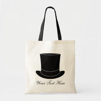 A sacola elegante do casamento com tophat | bolsa tote