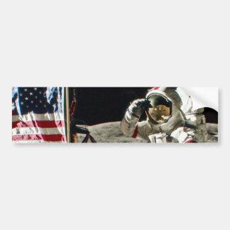 A saudação de um herói de Apollo 17 Adesivo Para Carro