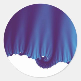 A seda azul drapeja adesivo