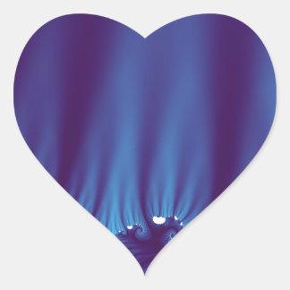 A seda azul drapeja adesivo coração