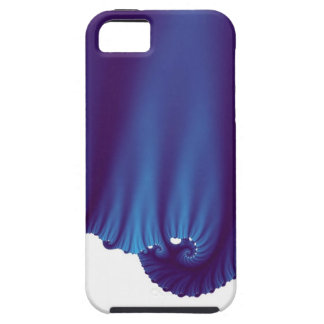 A seda azul drapeja capa de iPhone 5 Case-Mate