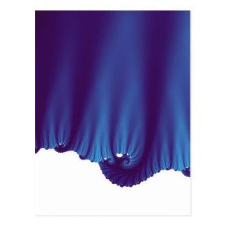 A seda azul drapeja cartão postal