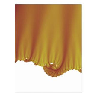 A seda do ouro drapeja cartão postal