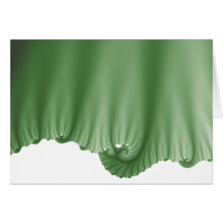 A seda verde drapeja cartão comemorativo