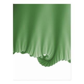 A seda verde drapeja cartão postal