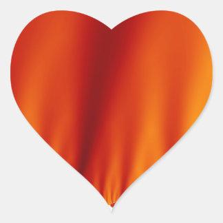 A seda vermelha drapeja adesivo coração