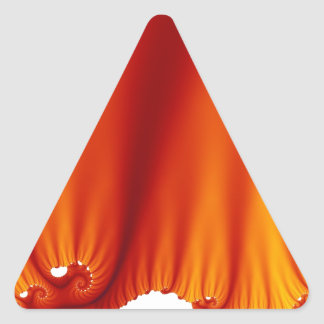A seda vermelha drapeja adesivo triangular