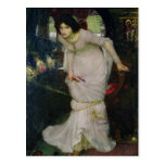 A senhora do Shallot pelo Waterhouse de John Cartão Postal