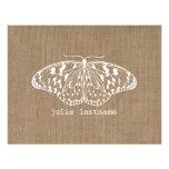 A serapilheira inspirou a borboleta Notecards liso Convite