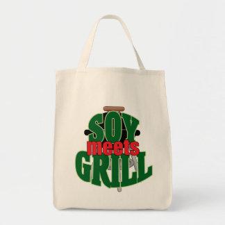 A soja encontra a grade bolsa para compra