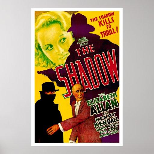 A sombra - cartaz cinematográfico 1933 do vintage posteres