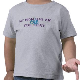 A T-Camisa da criança minha mamã tem um óleo para T-shirt