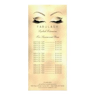 A tabela de preços chicoteia o Sal da beleza da Panfleto