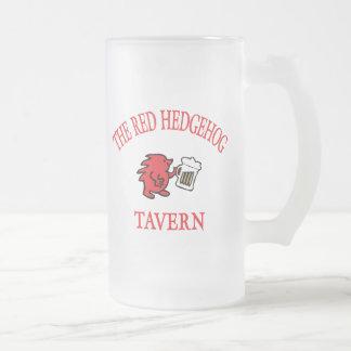 A taberna vermelha do ouriço - Viena Caneca De Cerveja Vidro Jateado