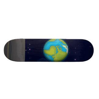 A terra da lua shape de skate 20cm