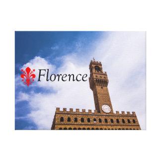 A torre de Palazzo Vecchio em Florença Impressão Em Tela
