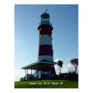 A torre de Smeaton, cartão do Hoe de Plymouth Cartão Postal
