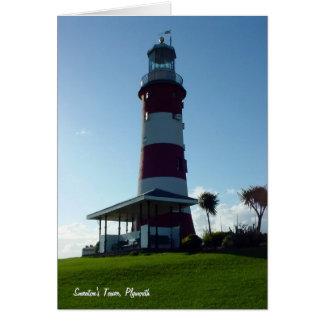 A torre de Smeaton Hoe de Plymouth Cartão