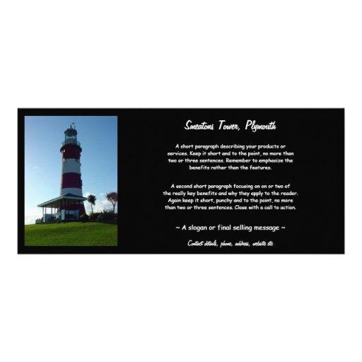 A torre de Smeaton, Hoe de Plymouth Modelo De Panfleto Informativo
