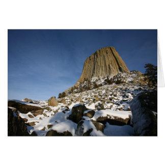 A torre do diabo cartão comemorativo