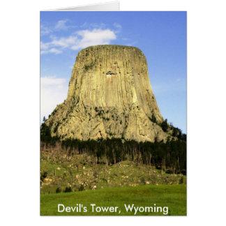 A torre do diabo, Wyoming Cartão Comemorativo