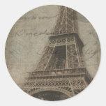 A torre Eiffel, etiquetas de Paris Adesivos Em Formato Redondos