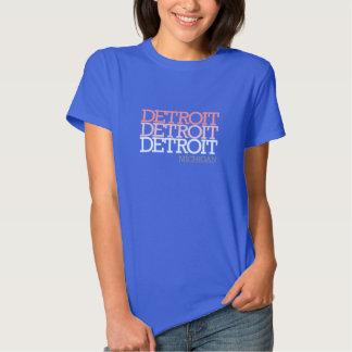 A Tri Cor Detroit das mulheres T-shirt