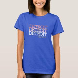 A Tri Cor Detroit das mulheres Tshirt