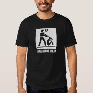 A tributação é camisa do roubo t-shirt