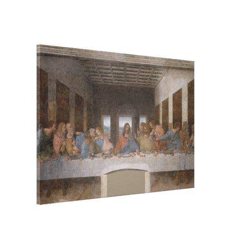 A última ceia/Última Cena por Leonardo da Vinci Impressão De Canvas Esticada