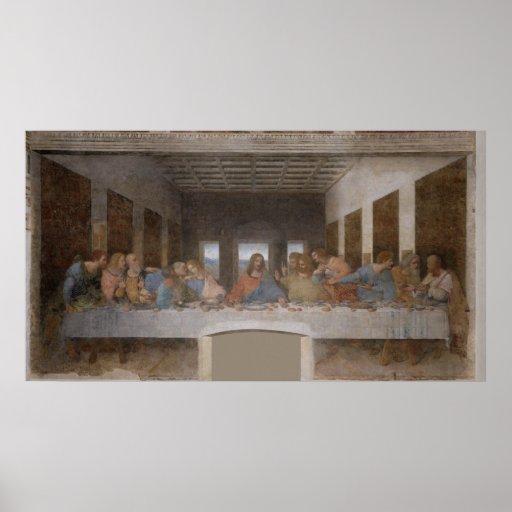 A última ceia Última Cena por Leonardo da Vinci Impressão