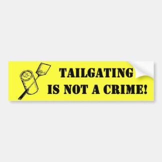 A utilização não autorizada não é um crime adesivo para carro